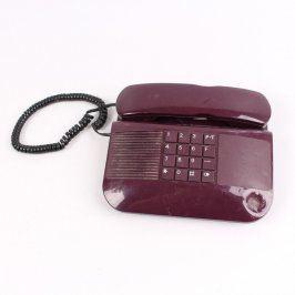 Klasický pevný telefon Tesla Stropkov vínový