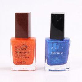 Sada laků na nehty Avon oranžový a modrý