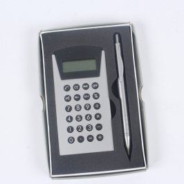 Kalkulačka s propiskou šedé