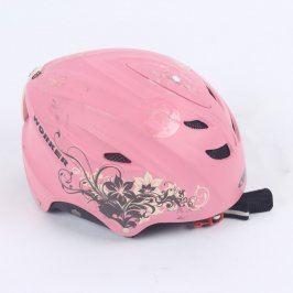 Dětská lyžařská helma Worker růžová