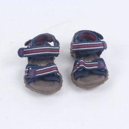 Dětské sandále tmavě modré s pruhy