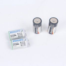 Baterie Philips LongLife 6F22 a Energizer C