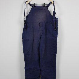Pracovní kalhoty s laclem modré