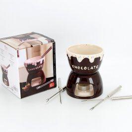 Sada na čokoládové fondue na čajovou svíčku