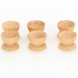 Sada dřevěných kořenek - 6 kusů