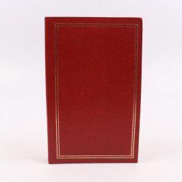Fotoalbum červené se zlatým rámečkem