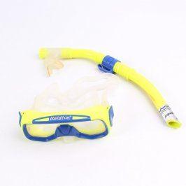 Dětský potápěčský set Unidive žluto modrý