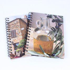 2x Zápisník kostkovaný s dekoračními deskami