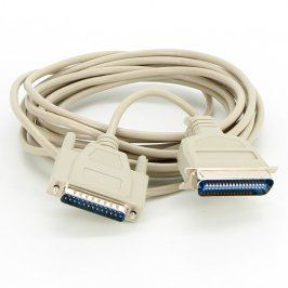 Paralelní kabel Centronics šedý délka 500 cm