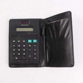 Kalkulačka v koženkovém pouzdře černá