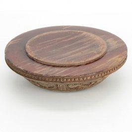 Skleněno dřevěný popelník