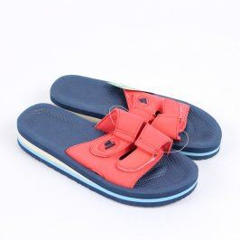 Dámské pantofle Sandic červenomodré