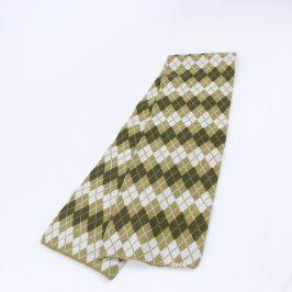 Dámská šála károvaná zelenobílá