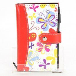 Zápisník v zapínacích deskách