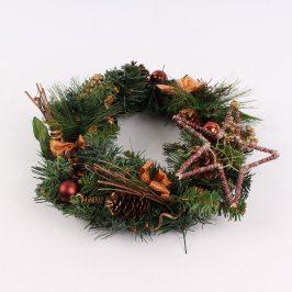 Vánoční dekorace věnec 30 cm