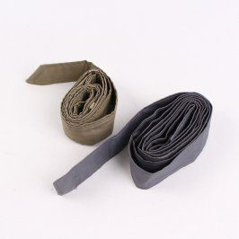 Dámské pásky khaki a tmavě šedý