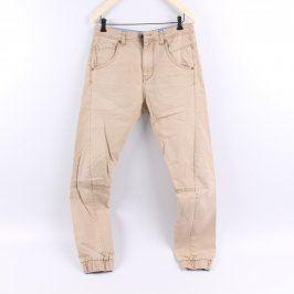 Pánské kalhoty Bershka odstín hnědé