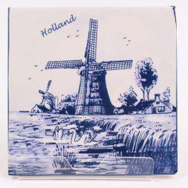 Porcelánový kachel s větrnými mlýny