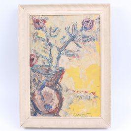 Obraz v rámu Růže ve džbánu