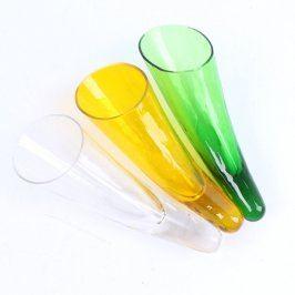 Skleněné vázy náprstkové