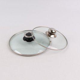 Poklice kuchyňské skleněné 2 kusy