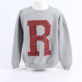 Dětská mikina River Island šedá s písmenem R