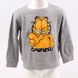 Dětská mikina Garfield Odie šedá