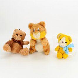 Mix hraček 3 plyšový medvídci