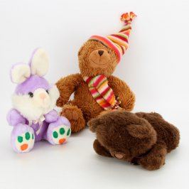 Mix 3 plyšových hraček: zajíc a méďové