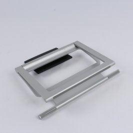 TV stojan 35 x 32 cm kovový stříbrnočerný