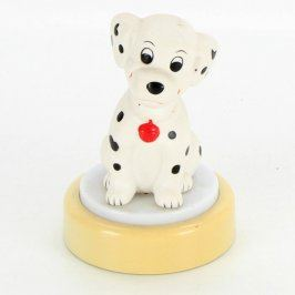 Lampička se sedící figurkou psa