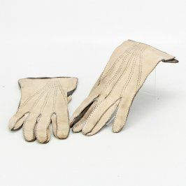 Dámské rukavice kožené béžové