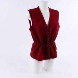 Dámská stahovací vesta odstín červené