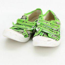 Dětské bačkory Dahl zelené