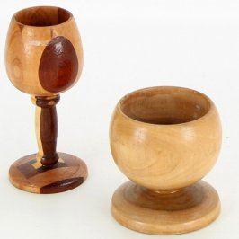 Dřevěné poháry - 2 různé kusy