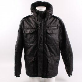 Pánská bunda černá na zip
