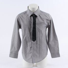 Dětská košile Cherokee šedá s kravatou
