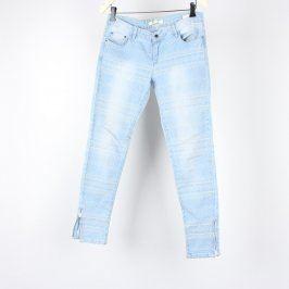 Dámské džíny Miss curry modré se vzory