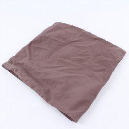 Povlak na polštář hnědý 35 x 37 cm