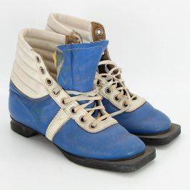 Běžkařské boty modrobílé