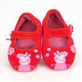Dětské bačkory Peppa Pig červené