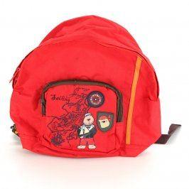 Dětský batoh Sailing červený s méďou