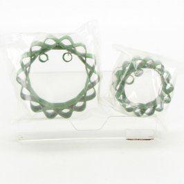Dekorace drátěná zelená 2 kusy