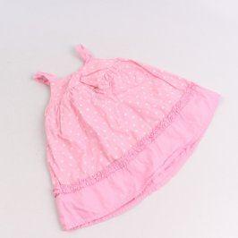 Dětské šaty George růžové s puntíky