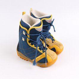 Dětské zimní boty Salomon modro žluté