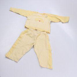 Dětské pyžamo FROG žluté s proužky