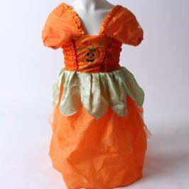 Karnevalové šaty dýně oranžové