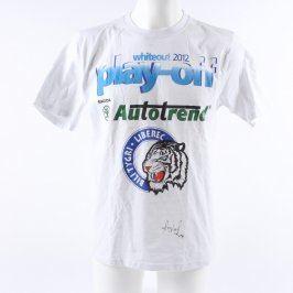 Chlapecké tričko bílé s reklamními nápisy