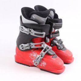 Dětské lyžařské boty Salomon červeno černé