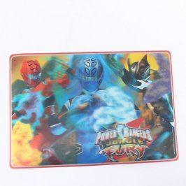 Plastová podložka Power Rangers 3D